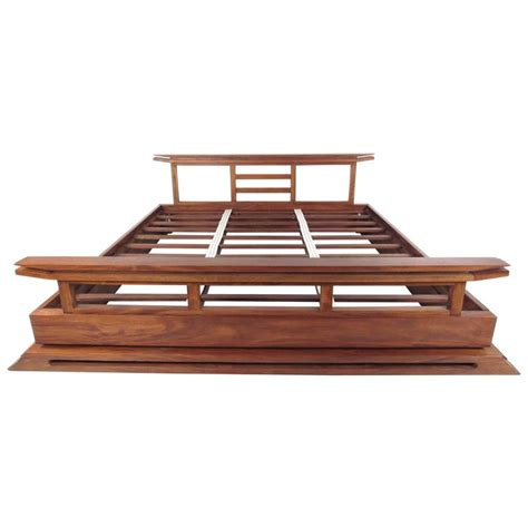 modern king bed frame contemporary modern solid teak king size bed frame at 1stdibs