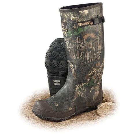 s browning 174 17 quot rubber snake boots mossy oak 174 84760