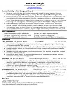 Web Product Manager Sle Resume by Sales And Marketing Manager Cv Sle Resume Format