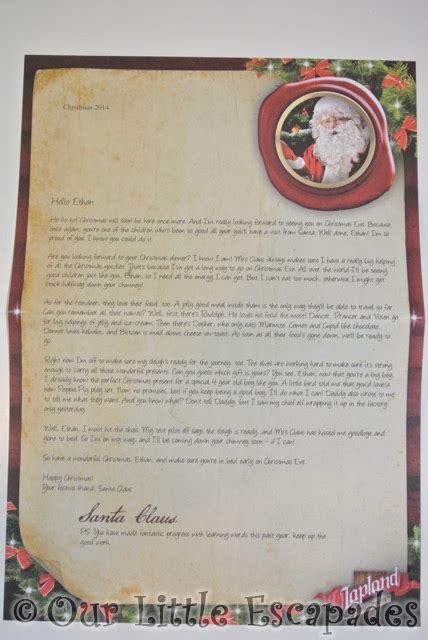 personalised letter from santa charity a letter from santa personalised letters from the
