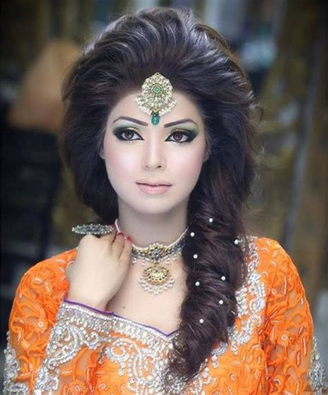 pakistani hairstyles in urdu pakistani bridal hairstyle 2016 for mehndi ceremony1