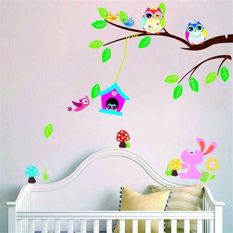 Wallpaper Dinding Motif Kupu Kupu Warna Warni harga stiker dinding pohon stiker dinding murah