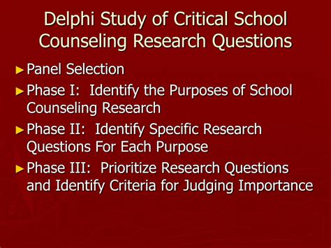 school counselor questions ppt a delphi study of critical school counseling
