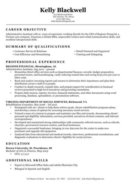 Free Resumes by Resume Builder Create A Free Professional Resume In Minutes