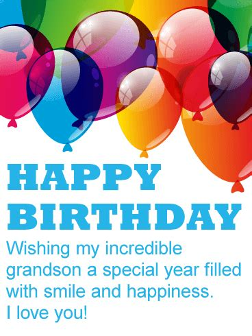 Birthday Quotes For A 3 Year Boy Birthday Cards For Grandson Birthday Greeting Cards By