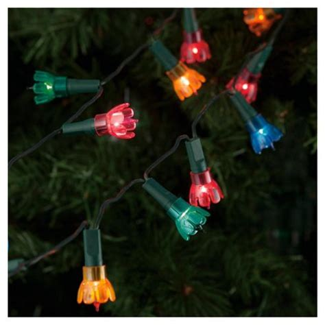buy festive 80 coloured petal christmas lights from our