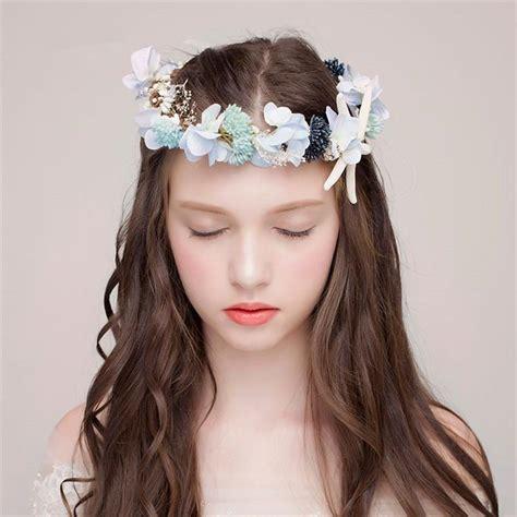 Wedding Bridal Flower Starfish Headpiece Boho Style Floral Flower Crown Headband Women Fashion