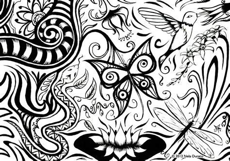 doodle flora traditional page 7 sketchblog of nela dunato cwtam