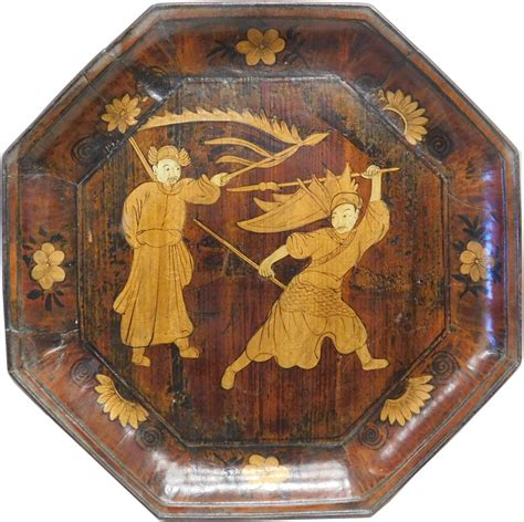 chinese wood plate  people opera painting