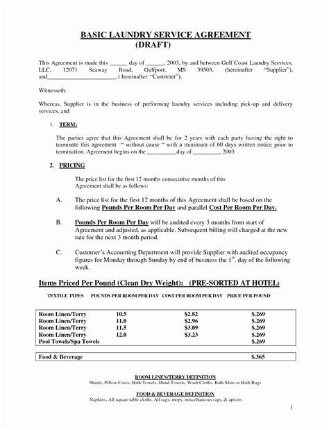 6 simple contract for services template attiu templatesz234