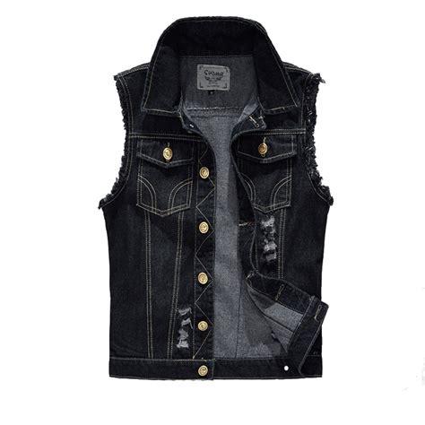 Jeand Washed Vest Fit L aliexpress buy denim vest mens jackets sleeveless fashion washed waistcoat mens tank
