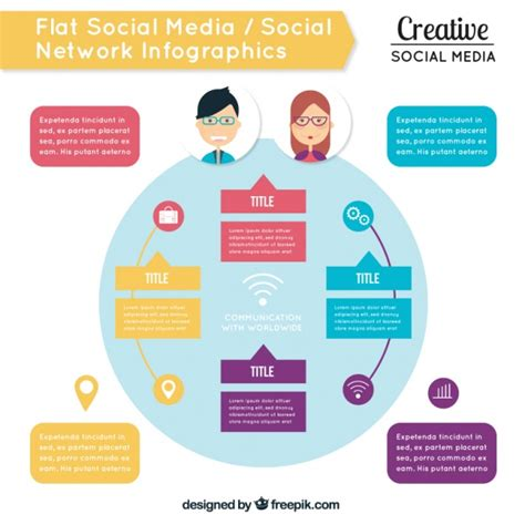 Infographic Template Of Social Media Vector Free Download Free Social Media Graphic Templates