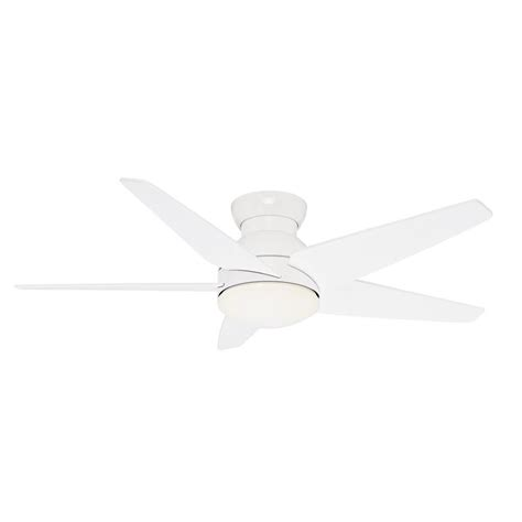 flush mount ceiling fan with remote shop casablanca isotope 52 in snow white indoor flush