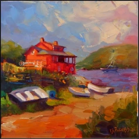 famous house painters red house swim beach 6x6 oil on linen monhegan island jaime wyeth red house red