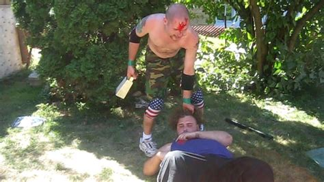 chw backyard wrestling last man standing match triple s vs devastator chw