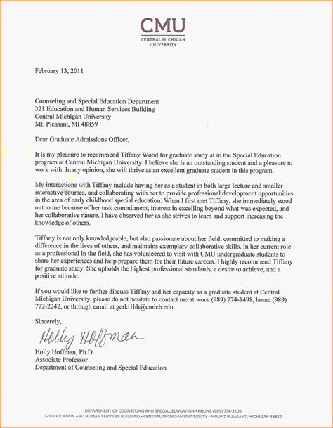 Recommendation Letter For Graduate Student Doc 11 sle recommendation letter for graduate school