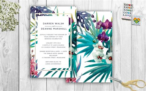 Tropical Wedding Invitations by Tropical Wedding Invitations