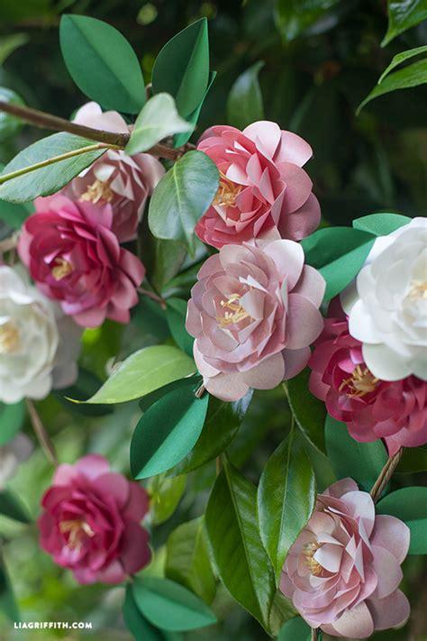 paper camellia flower tutorial diy metallic paper camellias