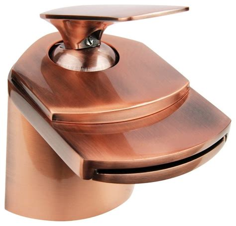copper waterfall bathroom faucet dyconn faucet antique copper waterfall bathroom faucet