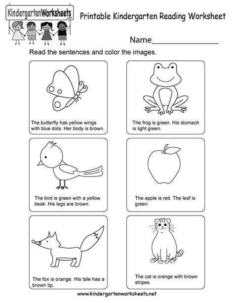 free printable english reading worksheets for kindergarten printable kindergarten reading worksheet free english