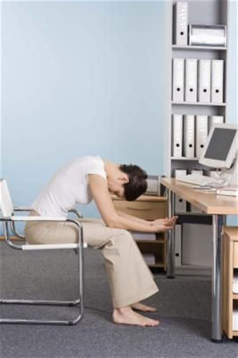 leg and exercises while working at a desk help me