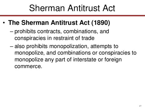 sherman antitrust act section 1 the sherman antitrust act prohibited pictures to pin on