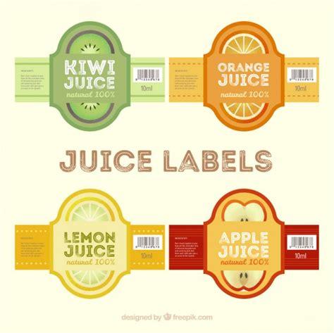 design label juice juice labels in flat design free vectors ui download
