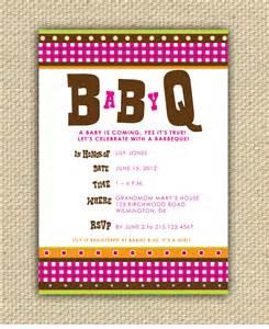 diy printable baby bbq shower invitation babyq