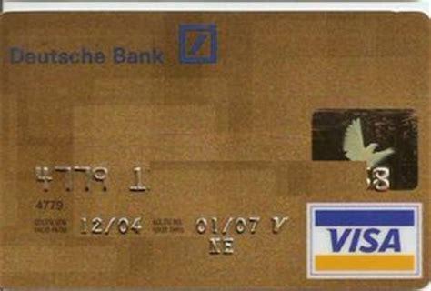 deutsche bank business card deutsche bank card