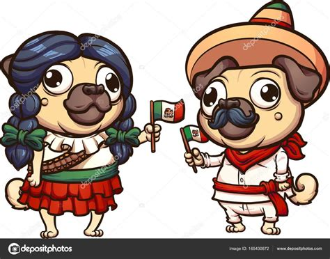 imagenes animadas revolucion mexicana pugs de historieta mexicana vector de stock