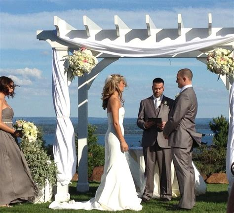 wedding arbor decor with fabric and flowers rustic weddings wedding