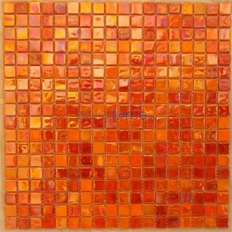 orange glass tile images mosaic