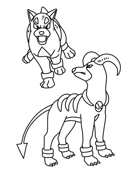 pokemon coloring pages houndoom mega houndoom coloring pages