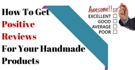 How To Price Your Handmade Items - how to get positive reviews for your handmade products