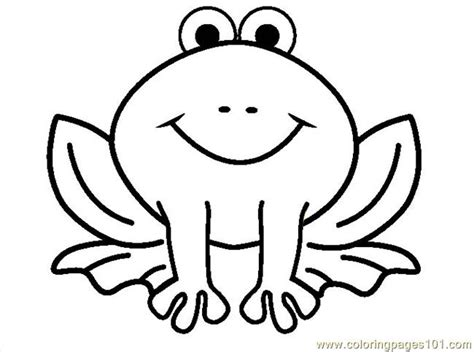 frog coloring page outline outline of cartoon frog clipart best