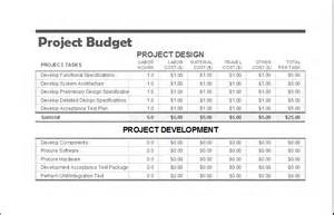Project Budget Template by Project Budget Template For Ms Excel Excel Templates