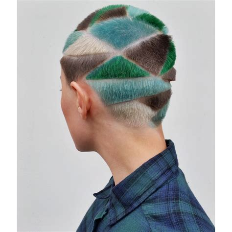 what is geometric hair cutting geometric buzz cuts and colorful hair tattoos inspired by