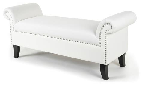 white indoor bench white roll arm bench contemporary indoor benches