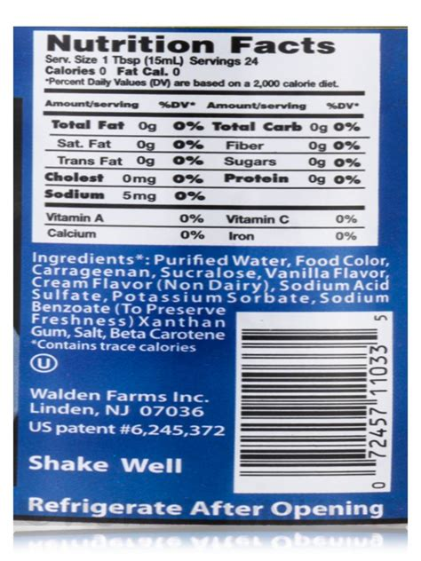 French Vanilla Coffee Creamer Nutrition Facts ? Nutrition Ftempo