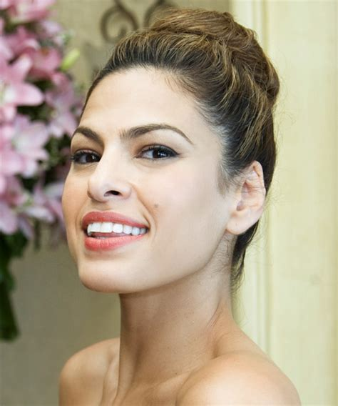 Eva Mendes Updo Long Curly Casual Updo Hairstyle