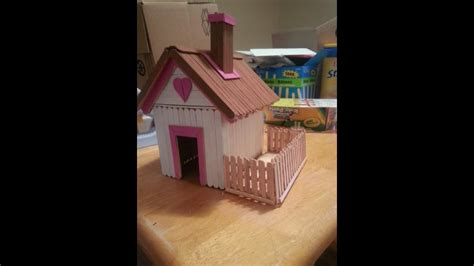 house crafts for how to make house using popsicle stick simple craft for