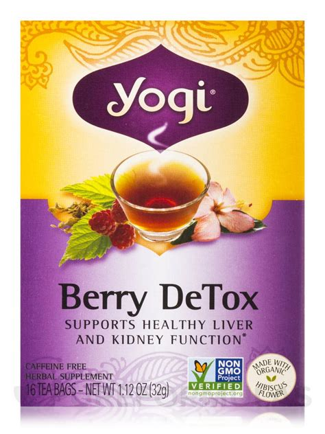 Berry Detox Yogi Lose Weight by Berry Detox Tea 16 Tea Bags
