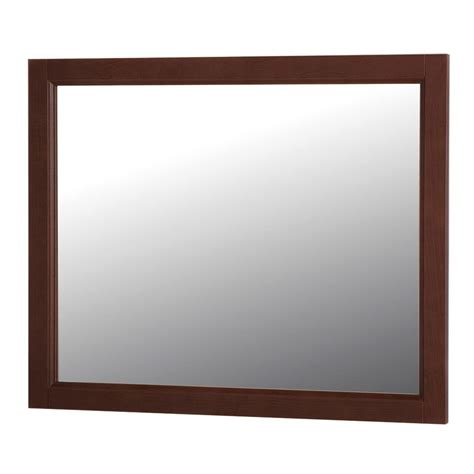home decorators collection mirrors home decorators collection claxby 31 in w x 26 in h wall mirror in cognac srwm26 cg the home
