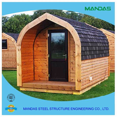 Portable Arched Cabins Prefabricated Log Cabin Prefab