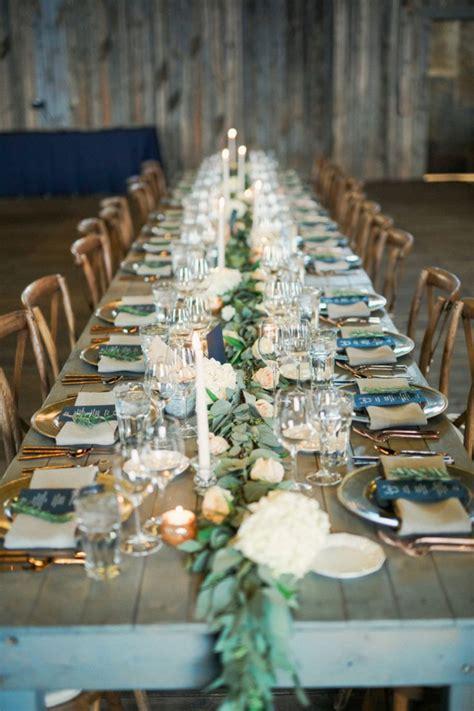 Rustic Wedding Reception Table Settings