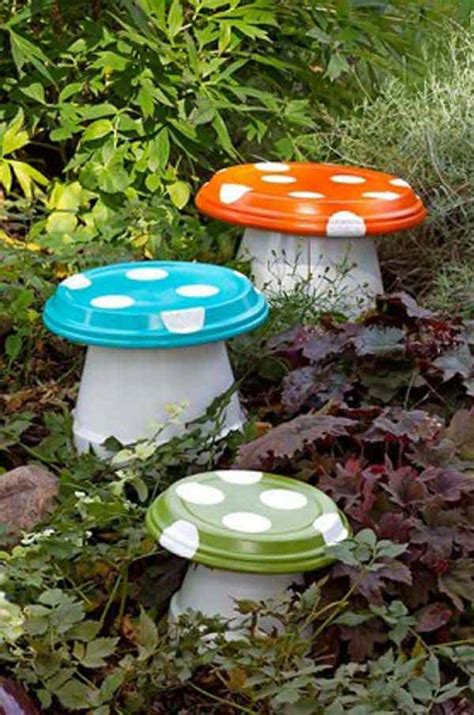 Mushroom Home Decor 26 beautiful simple and inexpensive garden projects