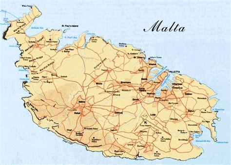 malta carte  image satellite