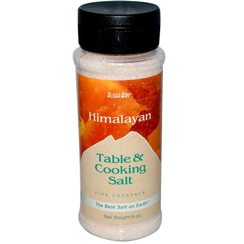 salt l aloha bay himalayan table cooking salt 6 oz iherb com