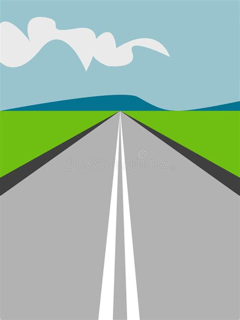 royalty free rf road clipart illustrations vector long road illustration stock vector illustration of line