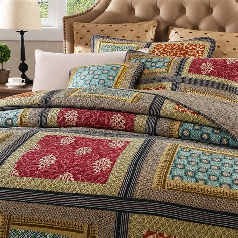 Bohemian Patchwork Quilt - boho chic bedding sets bohemian style bedding are comfy